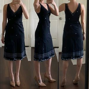 Rebecca Taylor black cotton embroidered dress